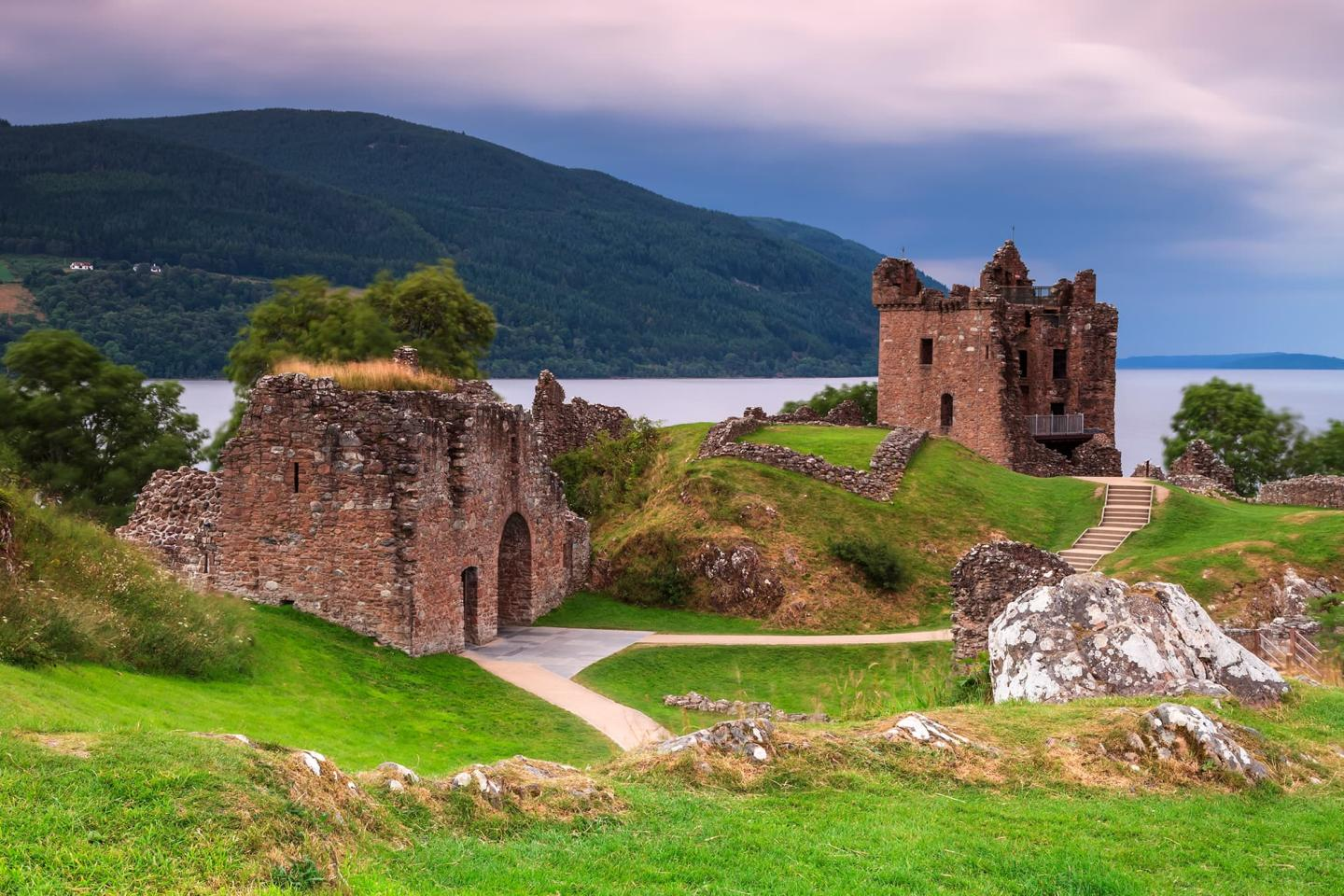 The Ruins of Urqurhart Castle At Loch Ness